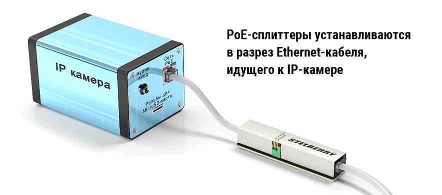 PoE-сплиттеры для активных микрофонов